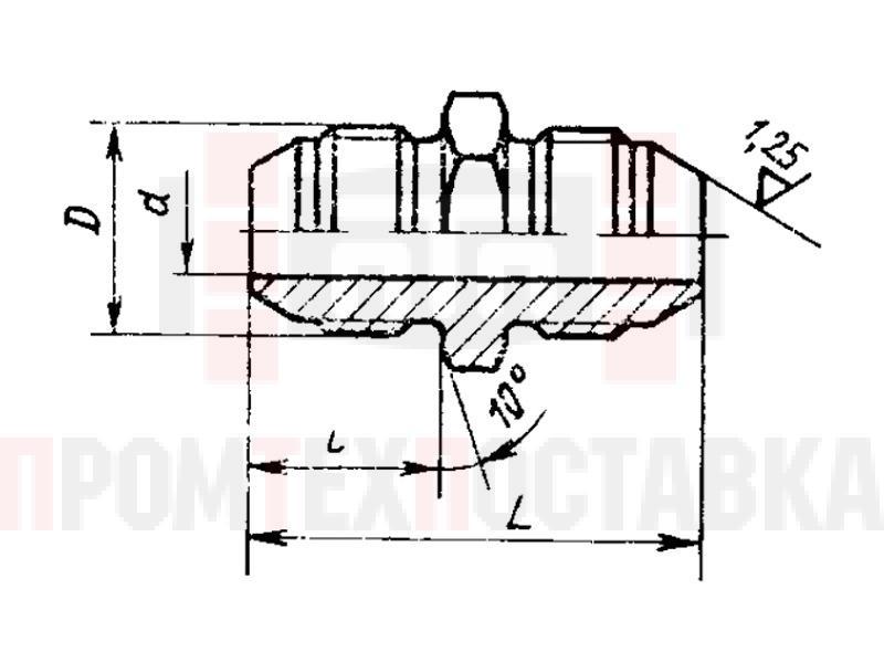 ГОСТ 13959-74 Проходники прямые для соединений трубопроводов по наружному конусу