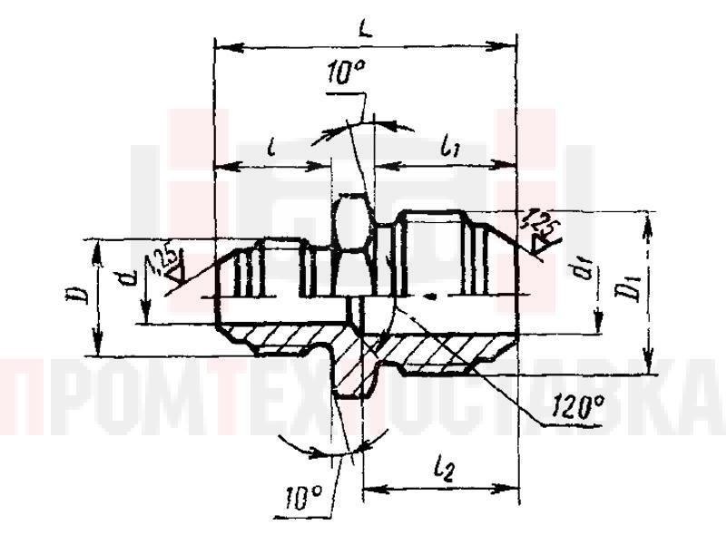 ГОСТ 13961-74 Переходники прямые для соединений трубопроводов по наружному конусу