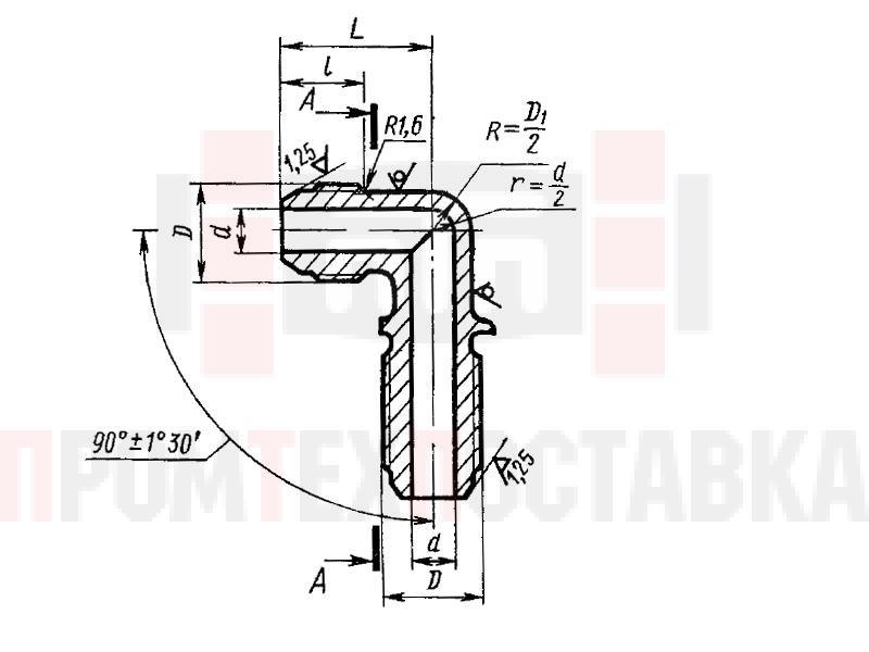 ГОСТ 13963-74 Угольники фланцевые проходные для соединений трубопроводов по наружному конусу