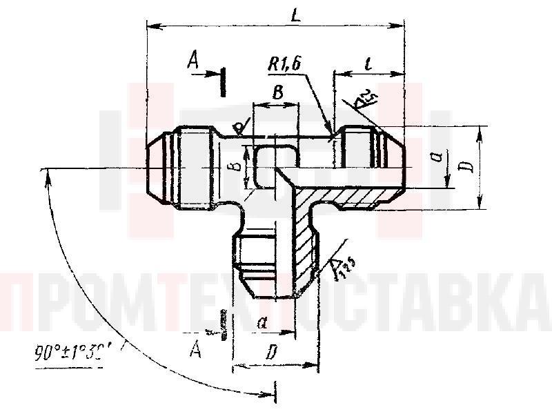 ГОСТ 13964-74 Тройники проходные для соединений трубопроводов по наружному конусу