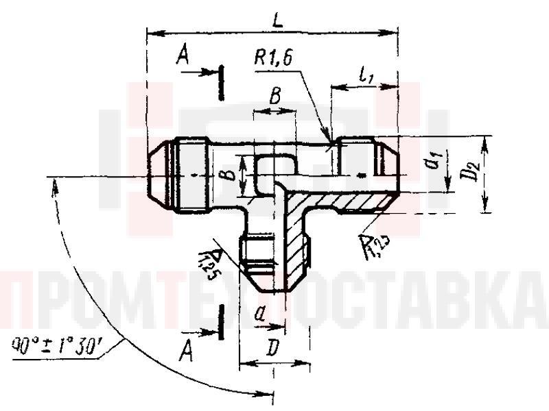 ГОСТ 13965-74 Тройники переходные для соединений трубопроводов по наружному конусу