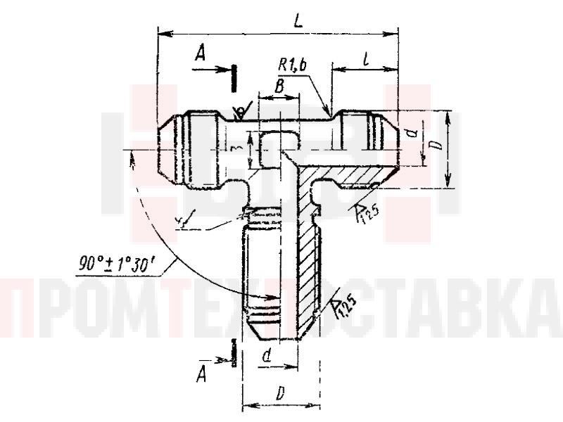 ГОСТ 13966-74 Тройники фланцевые проходные для соединений трубопроводов по наружному конусу