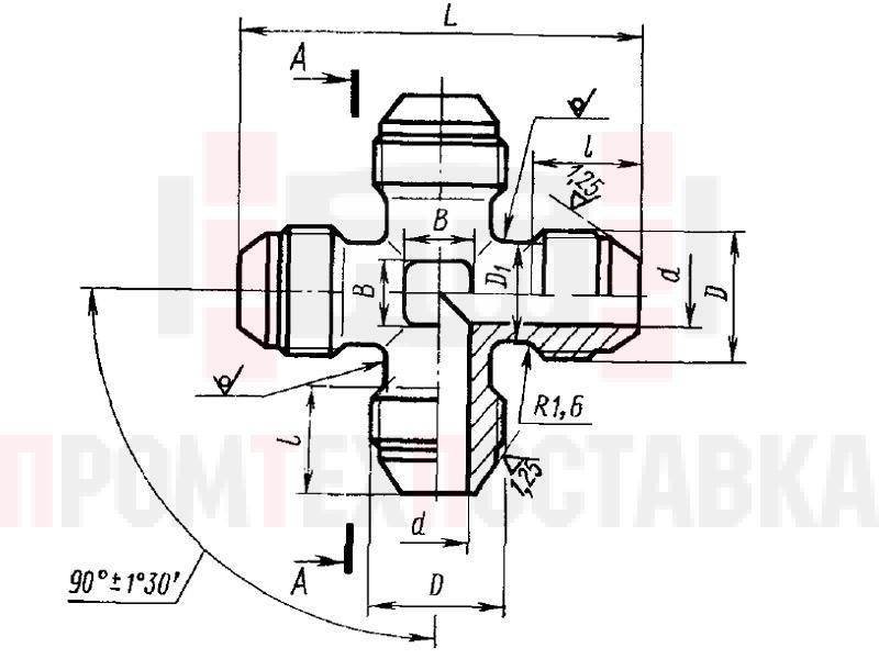 ГОСТ 13967-74 Крестовины проходные для соединений трубопроводов по наружному конусу