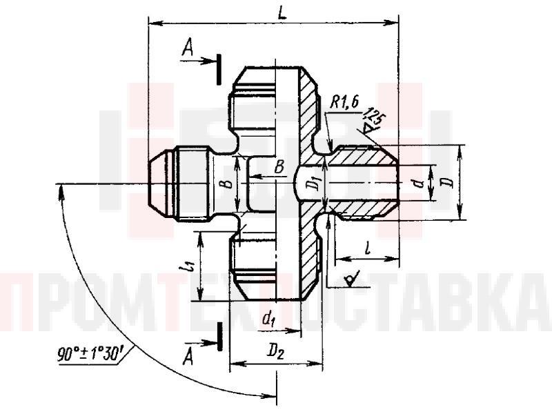 ГОСТ 13968-74 Крестовины переходные для соединений трубопроводов по наружному конусу