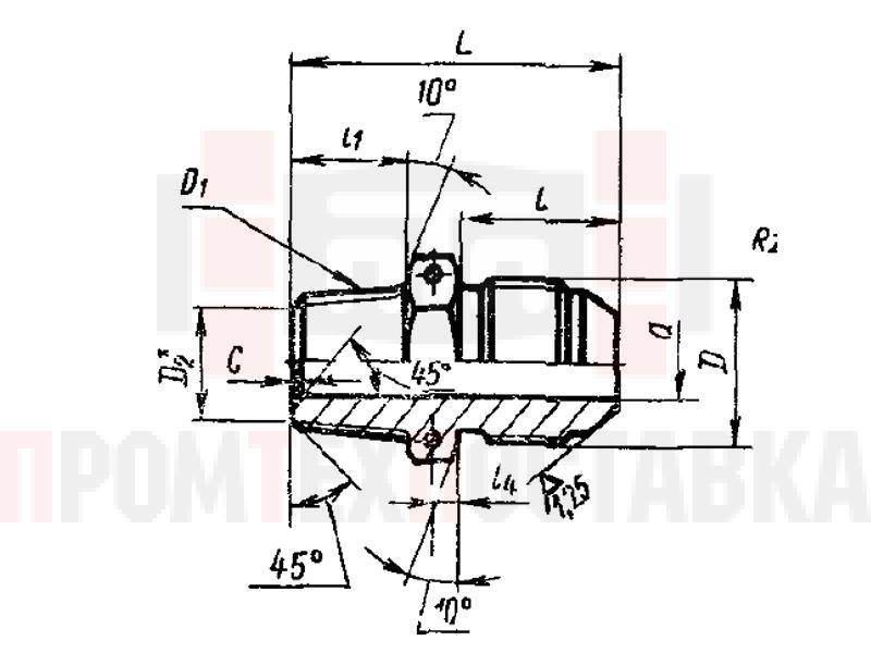 ГОСТ 13969-74 Проходники ввертные для соединений трубопроводов по наружному конусу