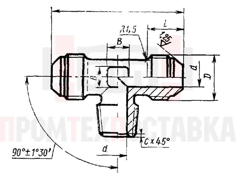 ГОСТ 13971-74 Тройники ввертные для соединений трубопроводов по наружному конусу