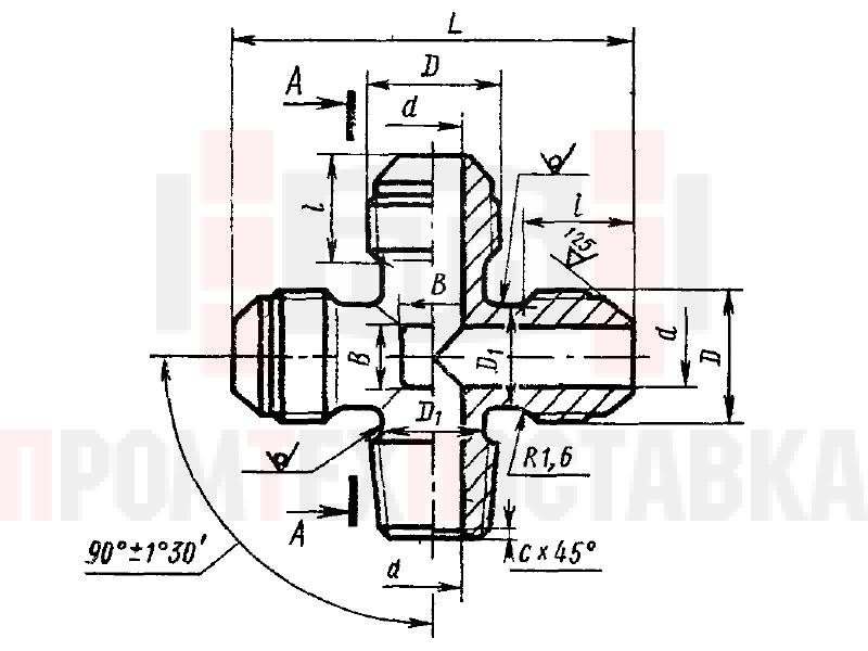ГОСТ 13972-74 Крестовины ввертные для соединений трубопроводов по наружному конусу
