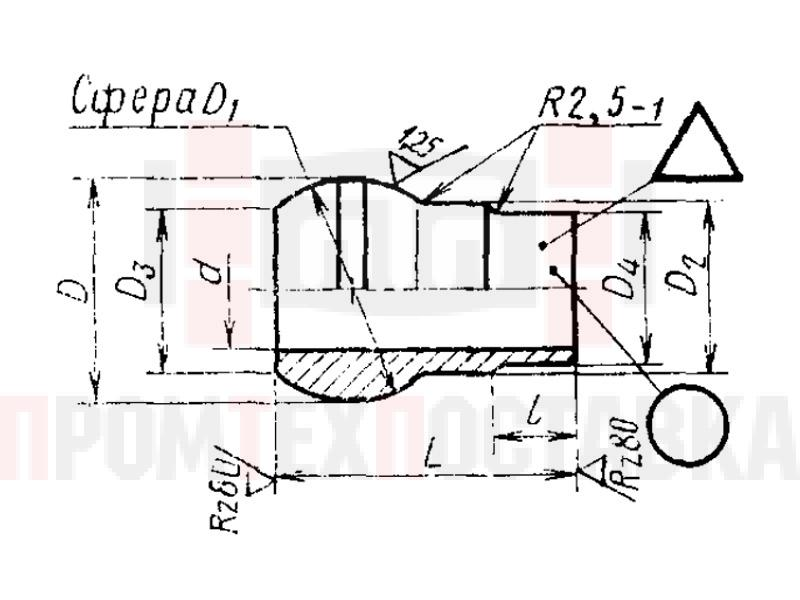 ГОСТ 16043-70 Ниппели сферические приварные для соединений трубопроводов по внутреннему конусу