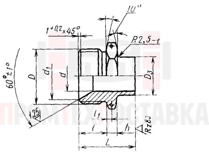 ГОСТ 16045-70 Штуцера приварные для соединений трубопроводов по внутреннему конусу