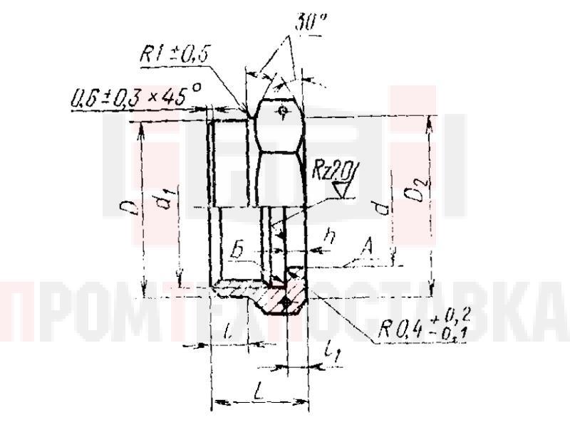 ГОСТ 16046-70 Гайки накидные полусферических ниппелей для соединений трубопроводов по внутреннему конусу