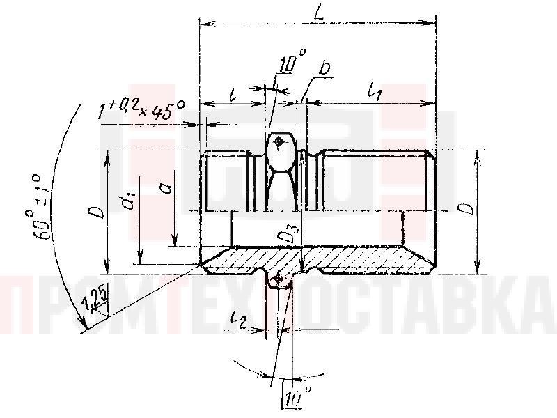 ГОСТ 16049-70 Проходники прямые для соединений трубопроводов по внутреннему конусу