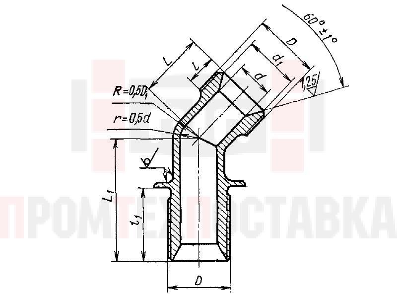 ГОСТ 16055-70 Угольники фланцевые с углом наклона 135 градусов для соединений трубопроводов по внутреннему конусу