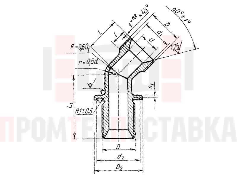 ГОСТ 16057-70 Угольники фланцевые с углом наклона 135 градусов герметизируемые для соединений трубопроводов по внутреннему конусу
