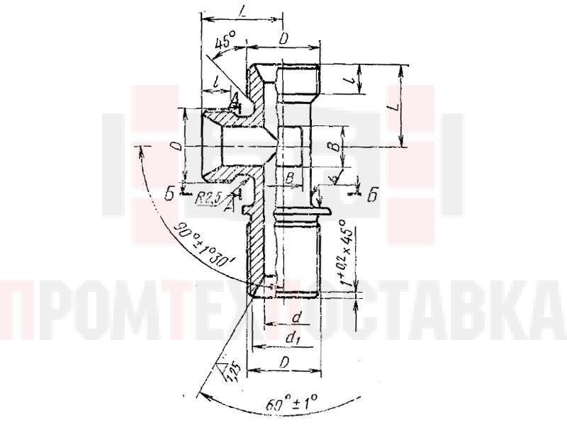 ГОСТ 16062-70 Тройники фланцевые несимметричные для соединений трубопроводов по внутреннему конусу