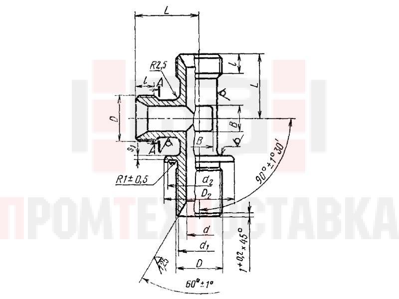 ГОСТ 16064-70 Тройники фланцевые герметизируемые несимметричные для соединений трубопроводов по внутреннему конусу