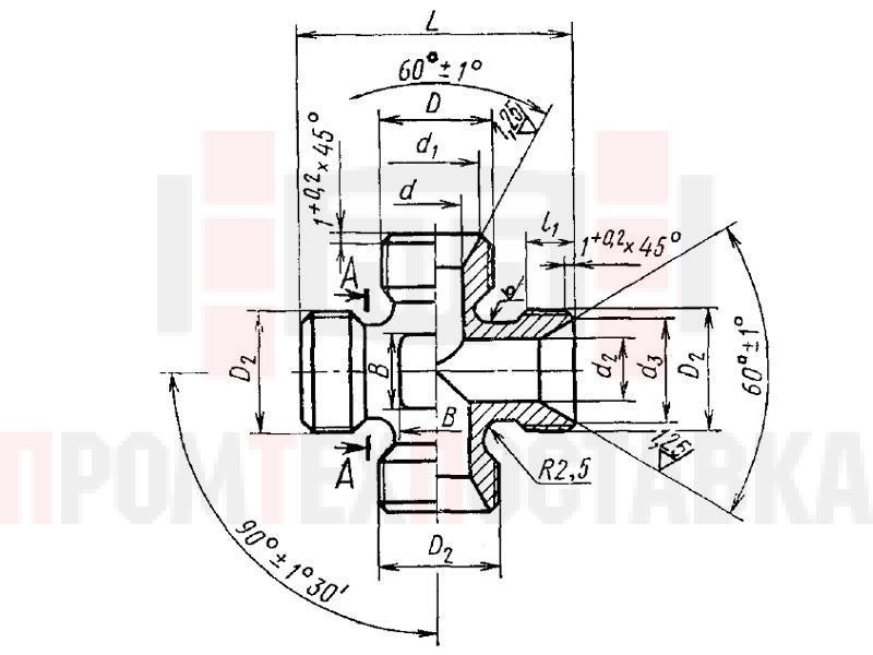ГОСТ 16067-70 Крестовины переходные несимметричные для соединений трубопроводов по внутреннему конусу