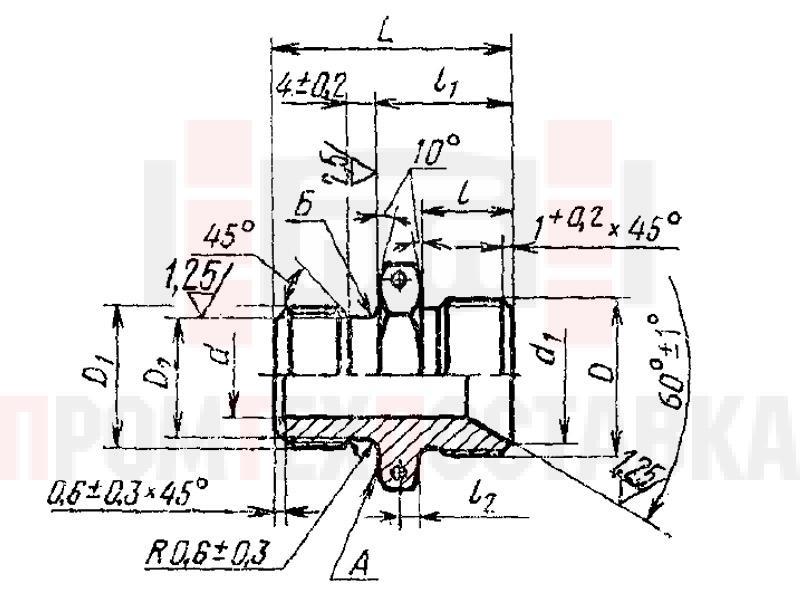 ГОСТ 16070-70 Проходники ввертные под резиновое уплотнение для соединений трубопроводов по внутреннему конусу