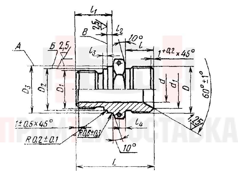 ГОСТ 16071-70 Проходники ввертные под металлическое уплотнение для соединений трубопроводов по внутреннему конусу