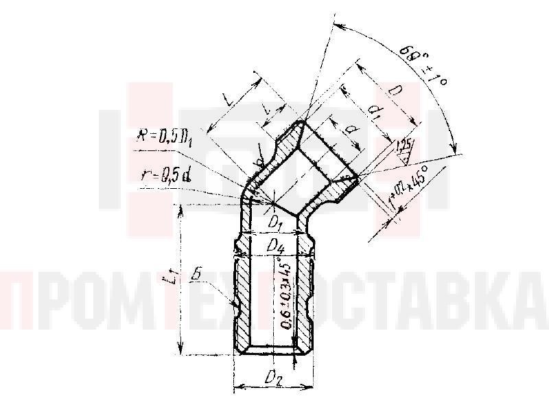 ГОСТ 16073-70 Угольники ввертные с углом наклона 135 градусов для соединений трубопроводов по внутреннему конусу