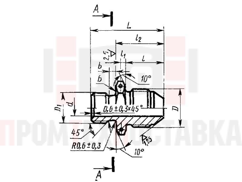 ГОСТ 20195-74 Проходники ввертные под резиновое уплотнение для соединений трубопроводов по наружному конусу