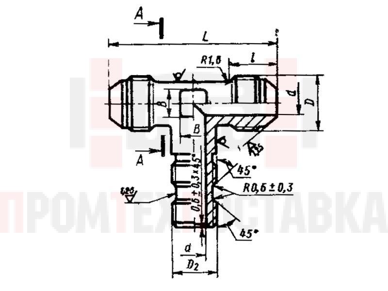 ГОСТ 20199-74 Тройники ввертные под резиновое уплотнение для соединений трубопроводов по наружному конусу