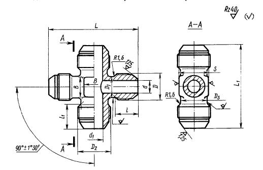 ГОСТ 13968-74 Крестовины переходные для соединений трубопроводов по наружному конусу.