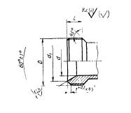 ГОСТ 16039-70 Резьбовая часть арматуры для соединений трубопроводов по внутреннему конусу. Конструкция и размеры