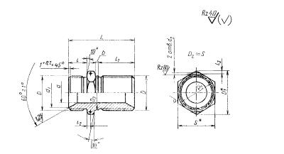 ГОСТ 16050-70 Проходники прямые удлиненные для соединений трубопроводов по внутреннему конусу. Конструкция и размеры