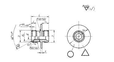 ГОСТ 16051-70 Проходники фланцевые для соединений трубопроводов по внутреннему конусу. Конструкция и размеры