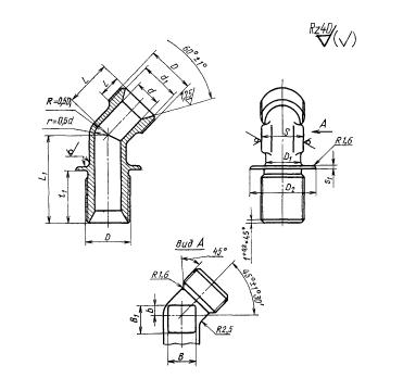 ГОСТ 16055-70 Угольники фланцевые с углом наклона 135 градусов для соединений трубопроводов по внутреннему конусу. Конструкция и размеры