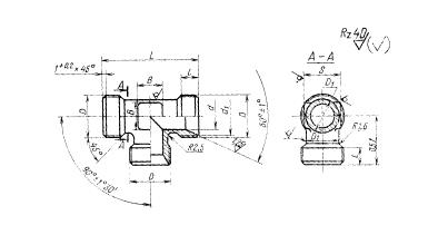 ГОСТ 16058-70 Тройники проходные для соединений трубопроводов по внутреннему конусу. Конструкция и размеры