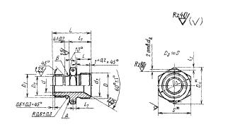 ГОСТ 16070-70 Проходники ввертные под резиновое уплотнение для соединений трубопроводов по внутреннему конусу. Конструкция и размеры