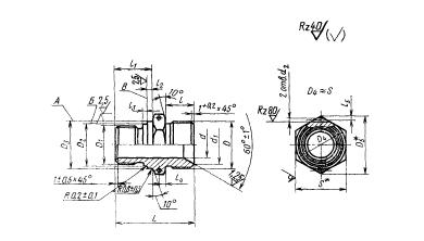 ГОСТ 16071-70 Проходники ввертные под металлическое уплотнение для соединений трубопроводов по внутреннему конусу. Конструкция и размеры