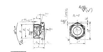 ГОСТ 16077-70 Заглушки конусные для соединений трубопроводов по внутреннему конусу. Конструкция и размеры