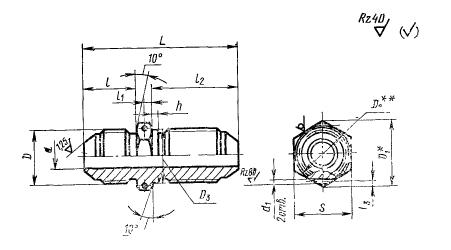 ГОСТ 20188-74 Проходники прямые герметизируемые для соединений трубопроводов по наружному конусу. Конструкция и размеры