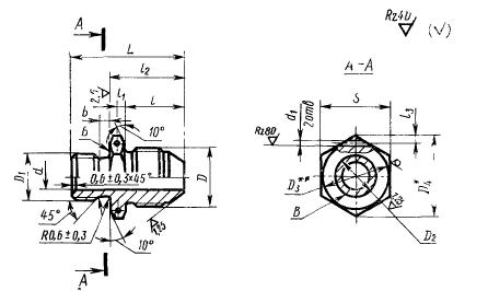 ГОСТ 20195-74 Проходники ввертные под резиновое уплотнение для соединений трубопроводов по наружному конусу. Конструкция и размеры